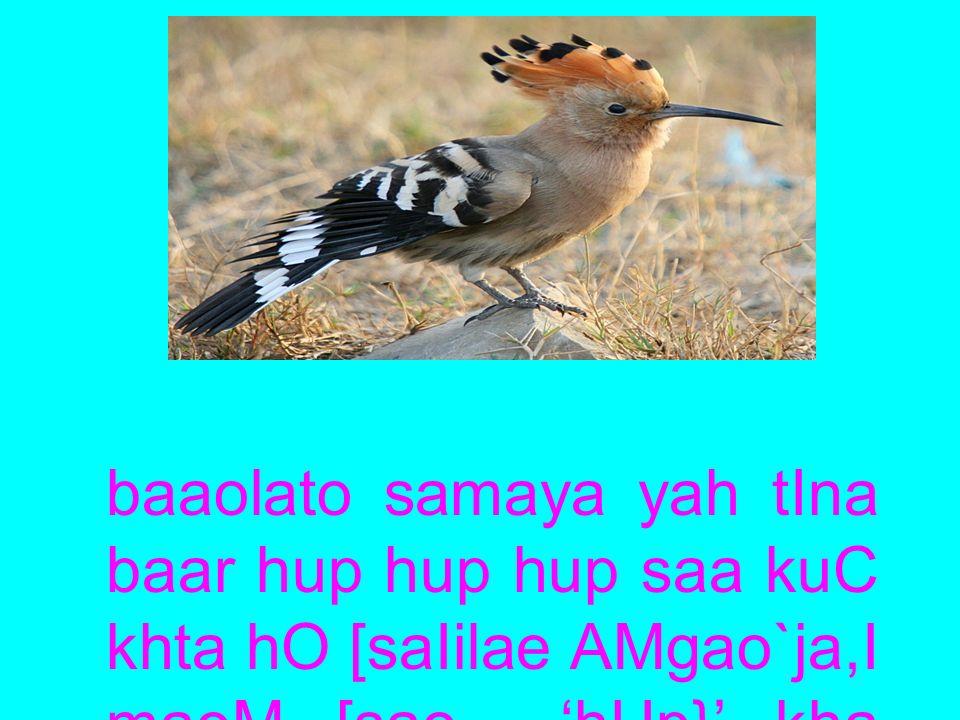 baaolato samaya yah tIna baar hup hup hup saa kuC khta hO [saIilae AMgao`ja,I maoM [sao 'hUp}' kha jaata hO.